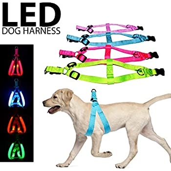 Home & Garden Dog Harness Nylon Led Flashing Luminous Breathable Mesh Harness Dog Pet Vest 3 Models Adjustable Safety Shine At Night