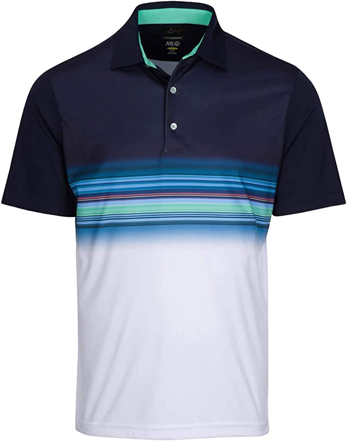 Greg Norman Performance Surf Golf Polo para hombre Azul Azul ...