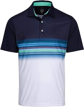 Greg Norman Performance Surf Golf Polo para hombre Azul Azul ...