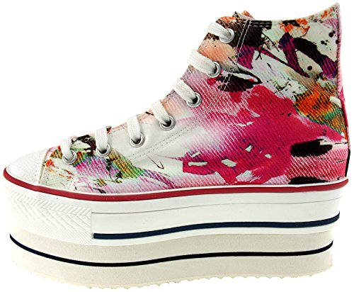Maxstar  CN9-8H,  Damen Sneaker Low-Tops Printed-Red