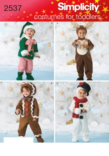 Simplicity Sewing Pattern 2537 Toddler Costumes, A (Snowman Costume Pattern)