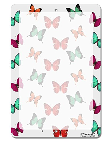TooLoud Pretty Butterflies AOP Aluminum 8 x 12 Dry Erase Board Sign All Over Print Butterfly Dry Erase Board