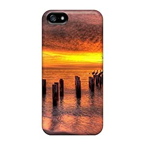 First-class Case Cover For Iphone 5/5s Dual Protection Cover Sunset Hdr