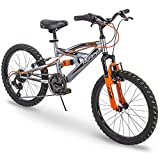 Huffy Kids Bike for Boys, Valcon 20 inch, 6-Speed, Charcoal Gray (Renewed)