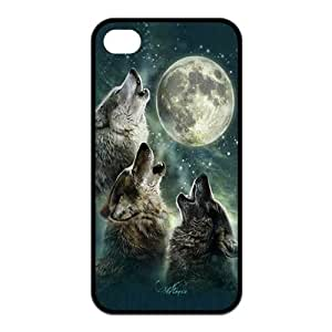 Three Wolf Moon Design for Iphone4/4s Best Rubber Cover Case-Creative New Life hjbrhga1544
