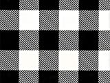 Black and White Buffalo Plaid Farmhouse Style Folded Wrapping Paper, 2' x 10' Folded Gift wrap, Made in America, Wrap & Revel®
