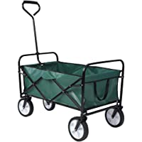 Carrito de Jardín Plegable Carro Transporte de Mano para Jardín 70 kg de Capacidad