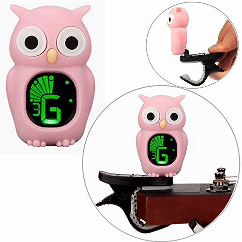 Ukulele Tuner Cartoon Owl Pink