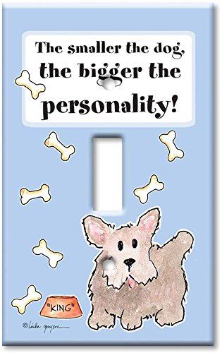 Art Plates - The Smaller the Dog Switch Plate - Single Toggle