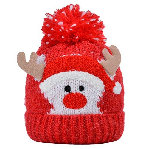 Cheap Fascigirl Boys Girls Baby Winter Warm Knit Hat for Kid Infant Toddler Santa Knit Cap