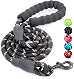 M&J 5 FT Strong Dog Leash with Comfortable Padded Handle and Highly Reflective Threads Dog Leashes for Medium and Large…