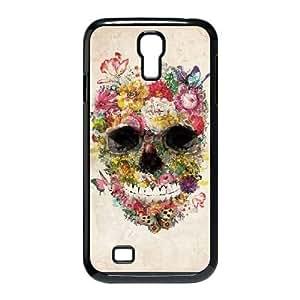 Specialdiy Custom Hard Plastic Back case cover for SamSung Galaxy S4 I9500 with Unique Design Beautiful flower skulls Jo4pQlKzSVh
