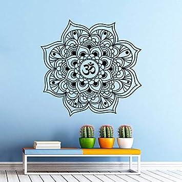 Calcomanías de pared caliente Mandala Yoga Oum Om Modelo ...