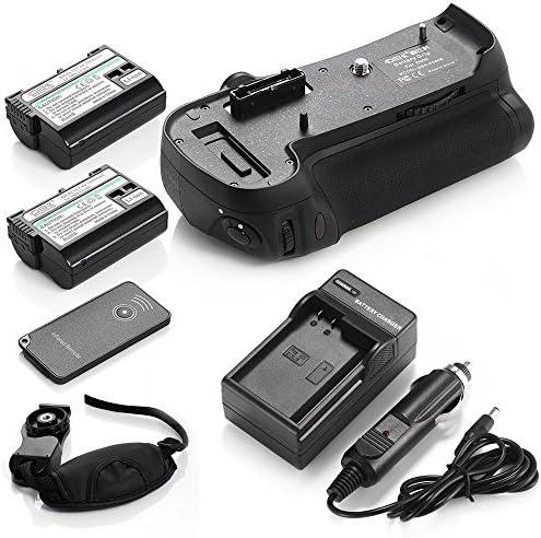 DS md-b12バッテリーグリップ+ 2x en-el15バッテリー+充電器for Nikon d800d800eカメラ