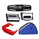 Ambrose 5 Pack Car Seat Belts Clip Buckle - Baby Kids Safety Adjustable Auto SeatBelt Stopper Strap Chest Adjuster Clip Anti skid Fixed Lock Car Accessories