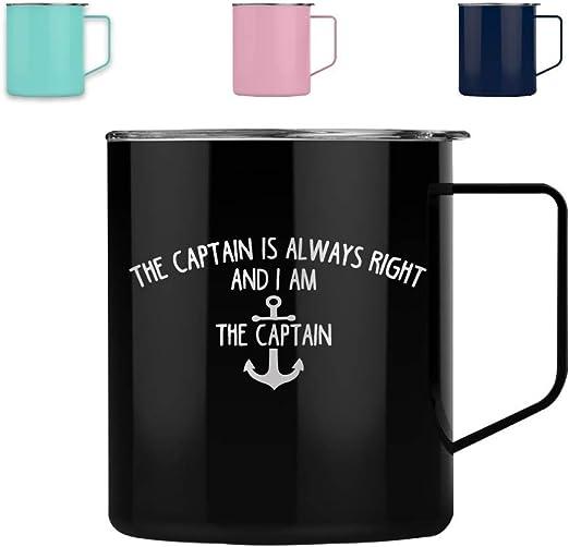 PERSONALISED CAPTAIN MUG Birthday Gift Him Men Boat Boating Cup Dad Husband Ship