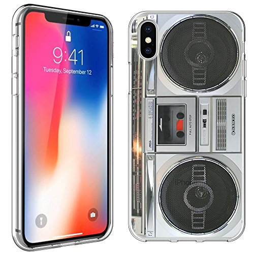 iPhone X Case [Boombox](Clear) PaletteShield Flexible Slim TPU skin phone cover