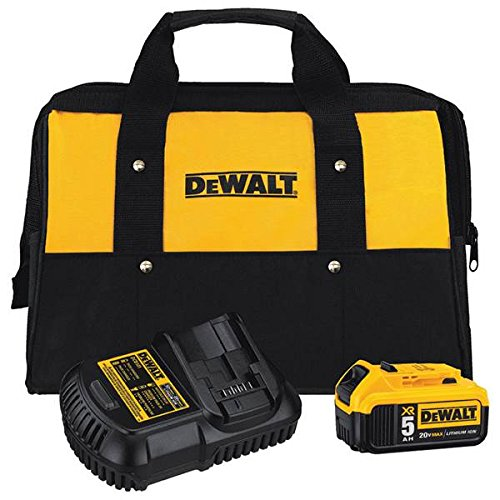 20-Volt MAX 5.0Ah Lithium-Ion Battery and Charger Kit with Bag | DCB205CK by DEWALT