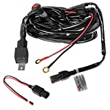 Primelux 12ft Relay Wiring Harness for LED Light Bars - 12V 40A Relay & 3-Pin On/Off Rocker Switch & Waterproof Fuse Holder & Blade Fuse & Male/Female Deutsch DT Connector (1x180W(1 Lead / 1x16 AWG))
