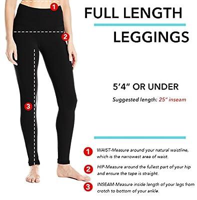 "Yogipace Petite Length Women's 25"" Inseam High Waisted Yoga Leggings Ankle Length Workout Active Pants"