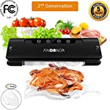 Vacuum Sealer, Automatic Food Sealer Machine with 15pcs Saver Bags for Food Preservation, Compact Design,Dry & Moist Food Modes, Wine Vacuum Sealer with Free Plug.