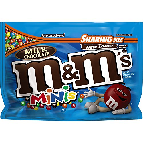 M&M'S Milk Chocolate MINIS Candy Sharing Size 10.1-Ounce Bag (Pack of 8)]()