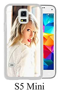 Lovely And Unique Designed Case For Samsung Galaxy S5 Mini With Taylor Swift In White White Phone Case