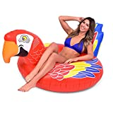 GoFloats Tropical Parrot Pool Float Party Tube - Float in Style (for Adults and Kids)
