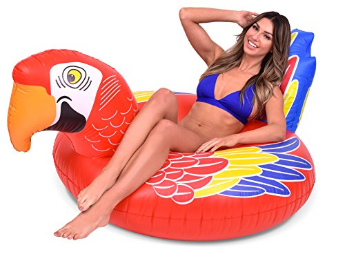 GoFloats Tropical Parrot Pool Float Party Tube - Float in Style (for Adults and -