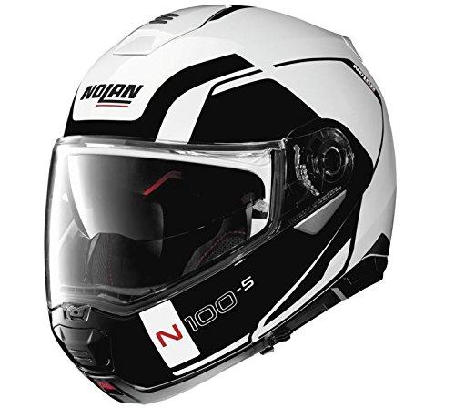 Nolan N100-5 Motorcycle Helmet Consistency Matte White - Motorcycle Helmet Modular Nolan
