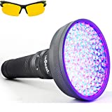 uvBeast VERSION 2 - Black Light UV Flashlight with HIGH DEFINITION 100 LED with Flood Effect 385-395nm UV Best for Commercial/Domestic Use Works Even in Ambient Light - USA Stock - UK Design