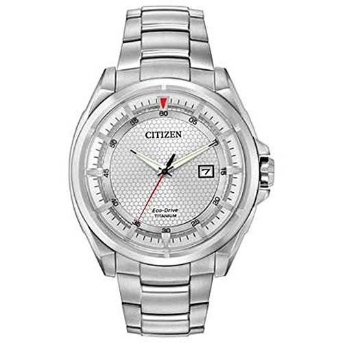 CITIZEN MEN'S ECO DRIVE TITANIUM WATCH SILVER WITH DIAL CZ AW1400-87A