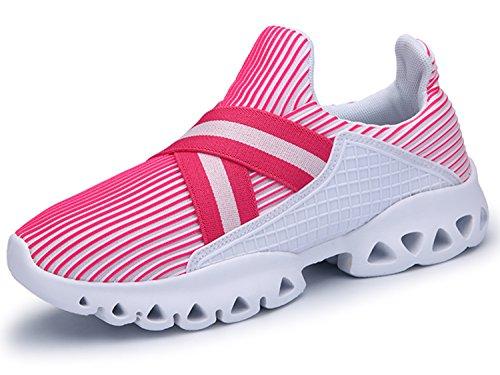 IIIIS-R Zapatillas de Deporte Zapatos Deportivos de Los Planos Atléticas Ocasionales de La Malla Respirable Del Primavera Verano de Las Unisex rosa