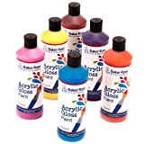 Acrylic Paint (Pack B - Orange, Purple, Lemon Yellow, Pink, Light Blue & Brown) 175ml of 6 Assorted Colours Water-Based Paint for Children's Painting & Crafts - Pack of 6