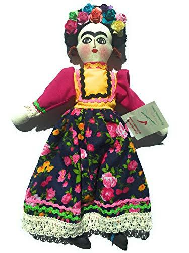 Grahmart Frida Kahlo - Mexican Handmade - Frida Doll - Kahlo Doll Frida