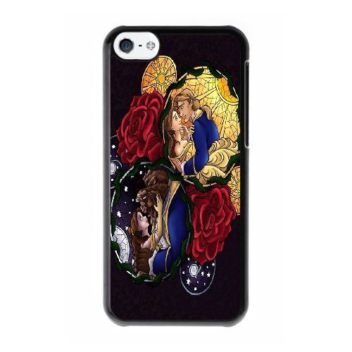 Coque,Coque iphone 5C Case Coque, Disney Prince And Princess Cover For Coque iphone 5C Cell Phone Case Cover Noir