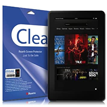 [Ultimate Clear] Kindle Fire HD 8 9 4G LTE Wireless Tablet Rearth Ringbo  Premium Screen Protector Cover Film [2 PACK]-[Does not fit orginial Kindle
