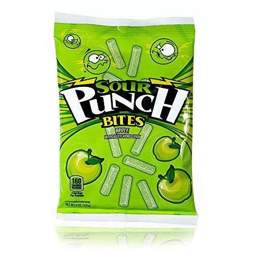 Sour Punch Apple Sour Bites 5oz Bag (12 Pack)