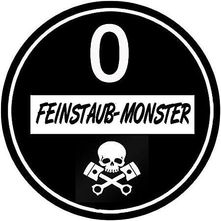 Generic Feinstaubplakette Schwarz Umweltplakette Aufkleber Sticker Folie Dirty Diesel Abgasskandal Oldtimer Versch Beschriftungen Feinstaub Monster Auto