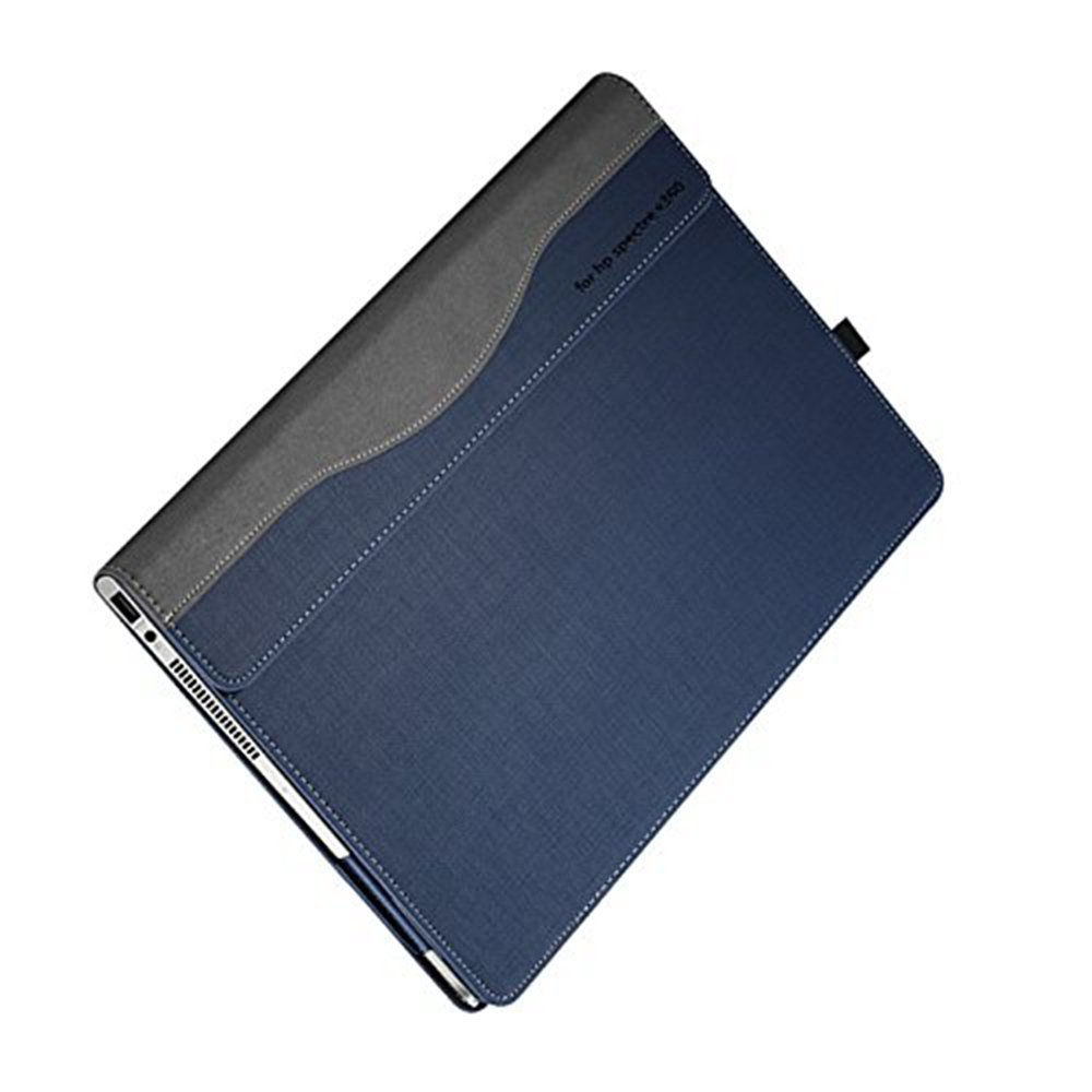 Hp Spectre X360 13.3 Inch Case ( Not Fit HP Spectre Series ), PU Leather Folio Stand Hard Cover for Hp Spectre 13.3'' 2 in 1 Laptop Sleeve, Blue by Veker (Image #7)