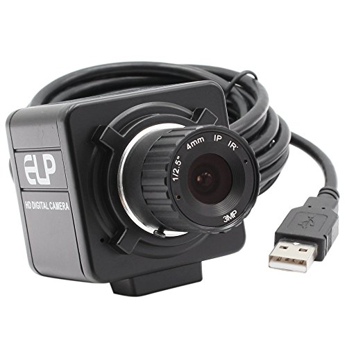 ELP Sony IMX322 Sensor Mini Usb Camera Module HD 1080P (4mm manual focus (4mm Manual Lens)
