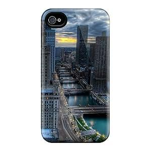 New Design Shatterproof LhksEdX3365xyuXZ Case For Iphone 4/4s (chicago City Illinois)