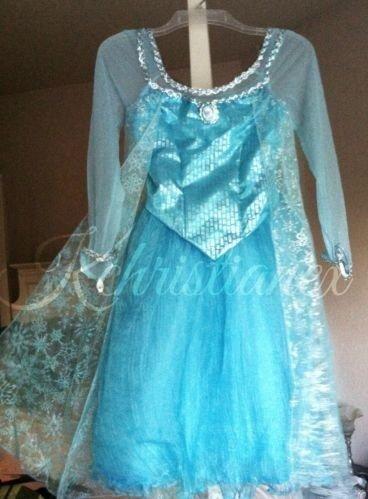 Disney Frozen Princess Elsa Authentic Disney Parks Exclusive Costume Dress Size 7/8