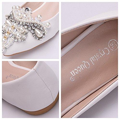 19578558 Durable Modelando MSFS Zapatos De Mujeres Mocasines Planos Boda Bailarina  Con Cuentas Diamante De Imitación Novia