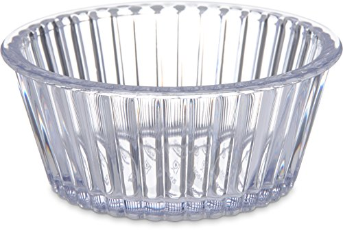 Carlisle 084507 SAN Fluted Ramekin, 4.5-oz. Capacity, 1.50 x 3.50'', Clear (Case of 48) by Carlisle