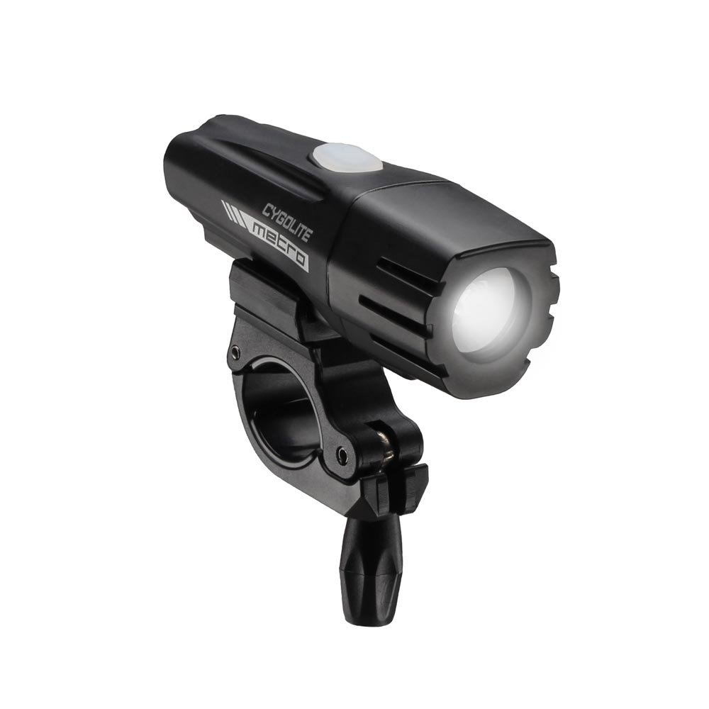 Cygolite Metro 400 USB Rechargeable Bike Light, Powerful 400 Lumen Bicycle Headlight for Road Cycling and Commuters, 6 Different Lighting Modes for Day and Night Safety