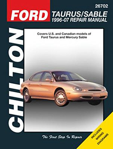amazon com chilton ford taurus sable 1996 2007 repair manual 26702 rh amazon com 2016 Taurus SHO Taurus SHO Interior