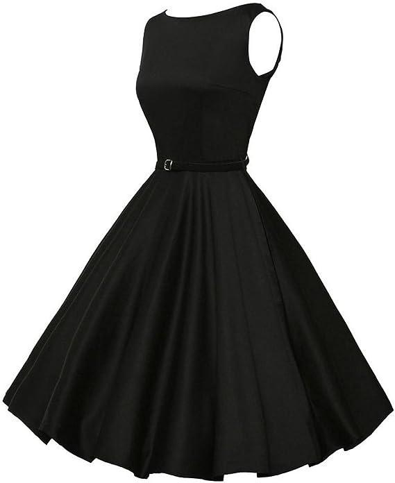 Kinlene Vestido Vintage para Mujer, diseño Floral, Estilo Retro, Rockabilly, Swing, para Fiestas, Bailes Vestido de Fiesta Elegante de la Playa: Amazon.es: Ropa y accesorios