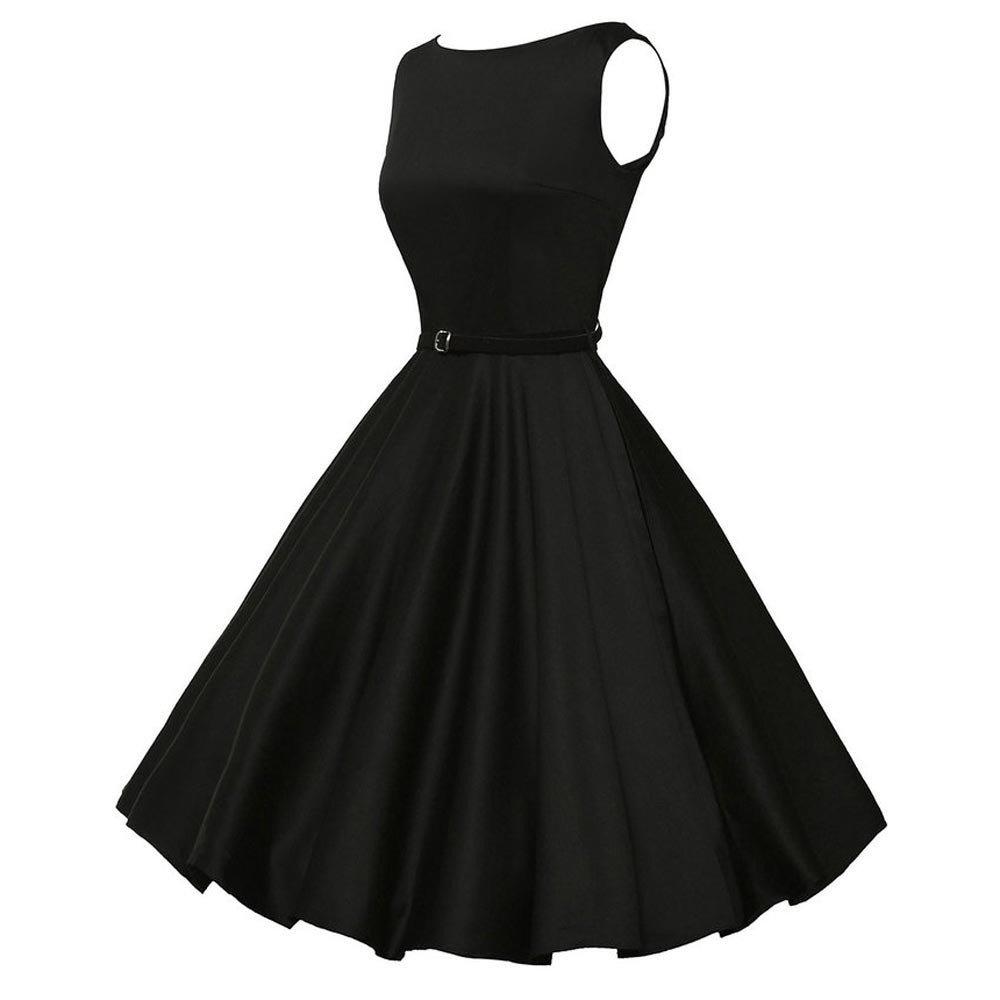 Kinlene Vestido Vintage para Mujer, diseño Floral, Estilo Retro, Rockabilly, Swing, para Fiestas, Bailes Vestido de Fiesta Elegante de la Playa: Amazon.es: ...