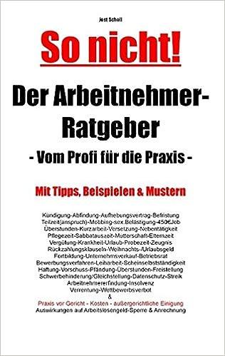 Amazoncom Der Arbeitnehmer Ratgeber German Edition